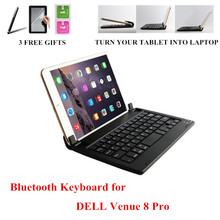 New Arrival Wireless Bluetooth Keyboard For DELL Venue 8 Pro 8 inch Tablet Keyboard Language Layout Customize 3 Gifts