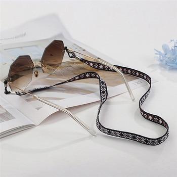 Imixlot étnico estampado Retro colorido gafas cadena gafas cuerda para mujeres niños 66cm cable para gafas soporte correa de cuello