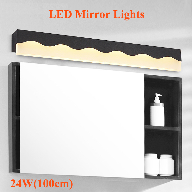 Aliexpress Com Buy New Modern 24w 100cm Led Mirror Lights Makeup Dressing Room Mirror Light Fixtures Lamp Bathroom Decoration Wall Lighting From Reliable
