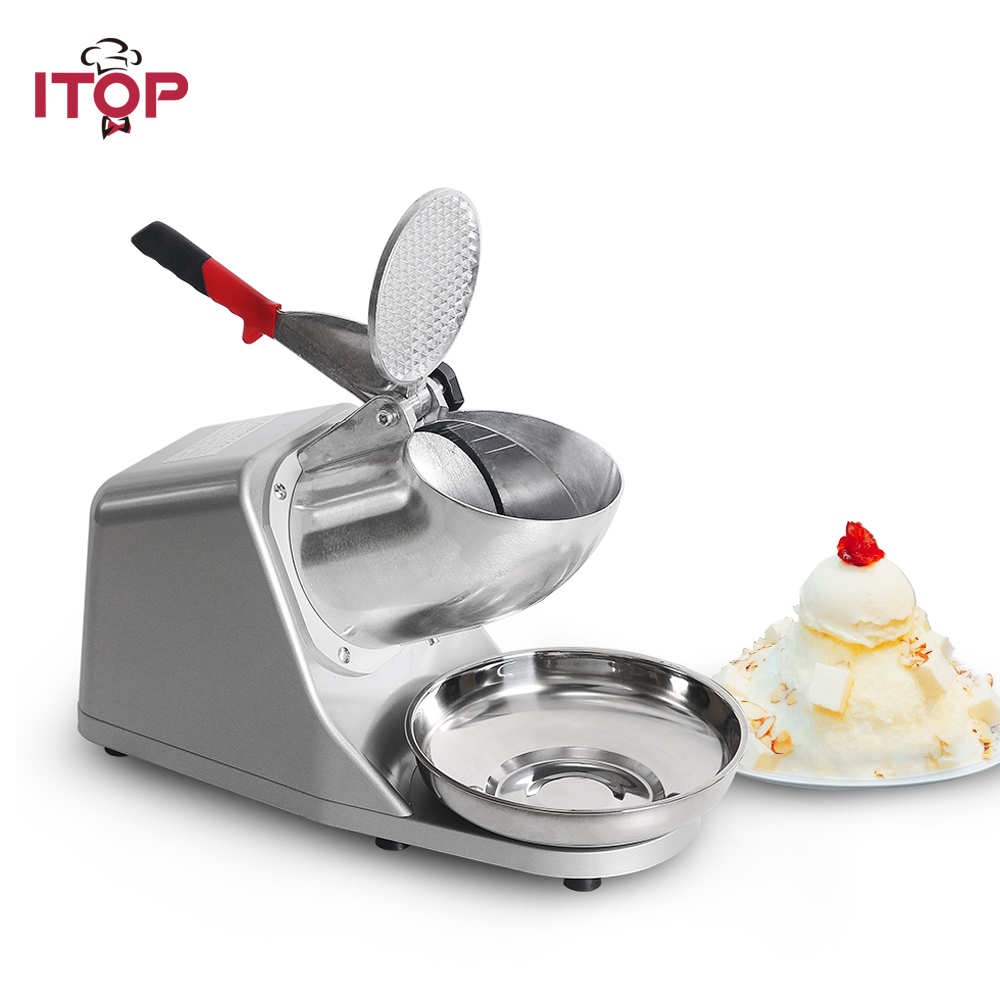 цена на ITOP Commercial Stainless Steel Ice Crushers Shavers Ice Smoothie Maker Machine Electric Snow Cone Ice Maker 110V/220V/240V