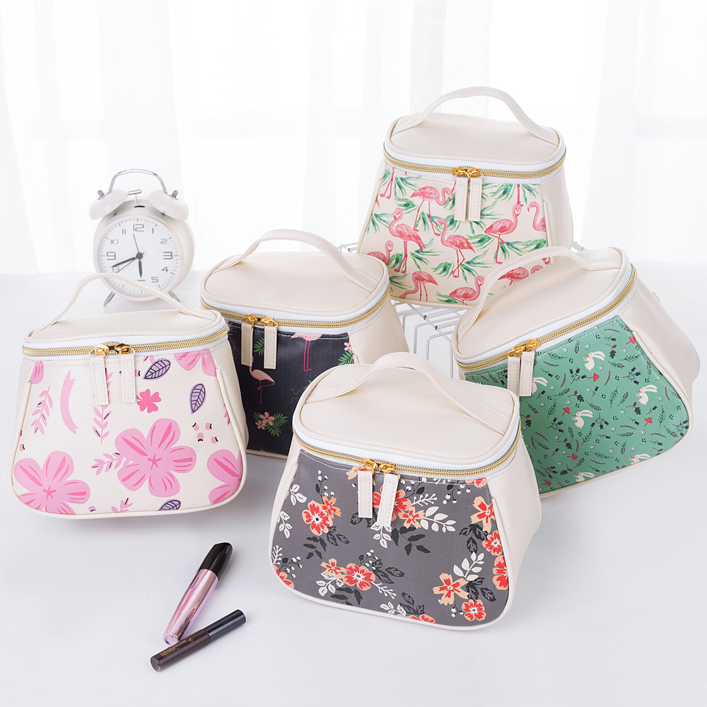 QEHIIE waterproof lady cosmetic bag travel organizer printing makeup bag professional admission bag suitcase case peterson s best college admission essays