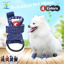 Lovoyager 4pcs/set Dog shoes Anti Slip Rubber Dog Boots Size S/M/L/XL/XXL    Dog Shoes for Chihuahua женские толстовки и кофты s xxl d0038 s m l xl xxl