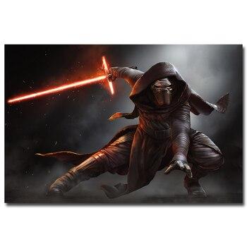 Плакат гобелен шелковый Кайло Рен Звездные войны 7 Пробуждение силы