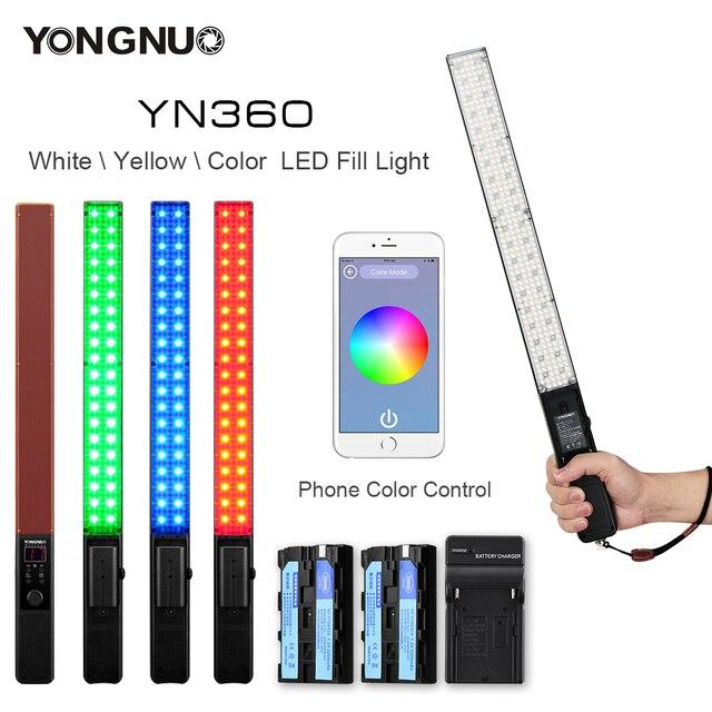 yongnuo yn360  Yongnuo YN360 3200k 5500k LED ICE Stick Video Light Handheld LED ...