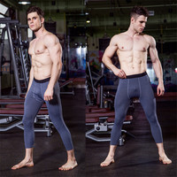 Men Skinny Pants Seventh Bodybuilding Jogger Fitness Leggings Crossfit Wortout Trousers Quick dry Many Color Slimming Underpants