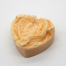 Hand Soap Making Silicone Mold Heart Shape 3D Angel Child Chocolate