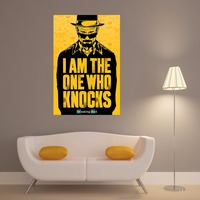 Breaking Bad Who Knocks Canvas Art Print Quote Poster Wall Pictures For Home Decoration Wall Decor