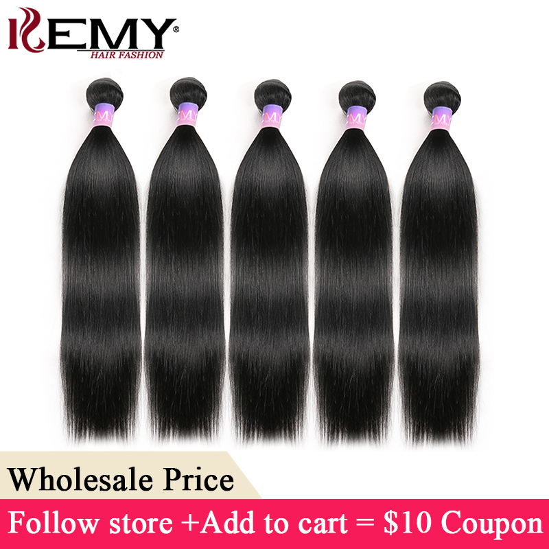 Jet Black Brazilian Hair Weave Bundles KEMY HAIR Non-Remy Human Hair Bundles 8-26 Inch Hair Extensions Wholesale Hair Weave(China)