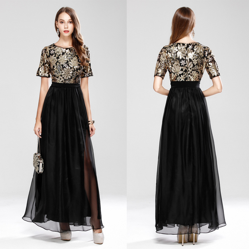 Beauty Emily Vintage Chiffon Evening Dress Boat Neck Cocktail Formal Swing Dress Special Occasion Dresses robe