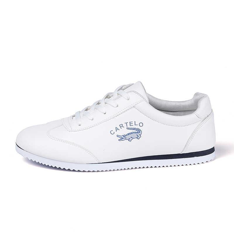 Zapatos de hombre CARTELO, nuevos zapatos informales, zapatos planos de cuero para hombre, zapatillas bajas con cordones, Tenis Masculino