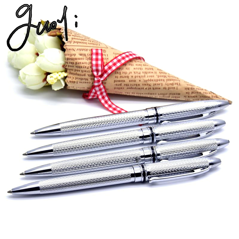 Guoyi ballpoint pen Office school Gifts supplies Metal Carved designs high quality Guoyi metal pen refills 2.68 USD / 1pc