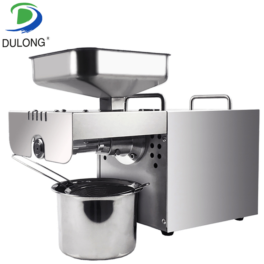 1 pieces stainless steel Multifunctional oil press machine for factory price oil press machine tool/350W oil expeller for sale automatic nut seeds oil expeller cold hot press machine oil extractor dispenser 350w canola oil press machine