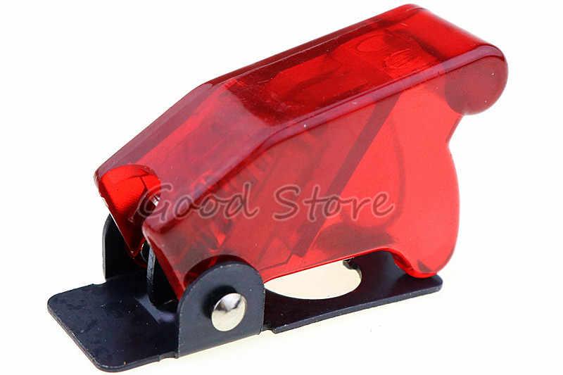 1PC 12V 20A רכב אוטומטי כיסוי LED אור Toggle מתג אדום צהוב Bule ירוק לבן SPST Toggle Rocker מתג בקרת On/Off עמיד