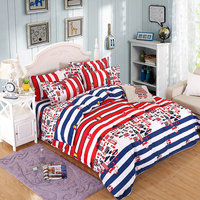 Colorful World Color Striped Print Pattern Four Sets Of Bedding Oversized Quilt + Bed + Pillowcase Comfortable Soft