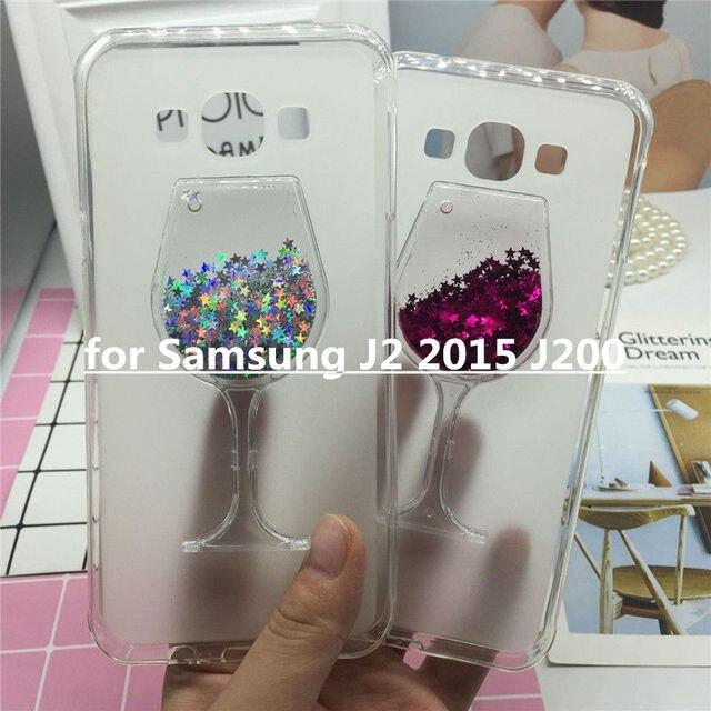 Girls Quicksand Case for Samsung Galaxy J2 2015 SM-J200 J200F J200G J200H Soft Back Cover Glitter Dynamic Liquid Silicone