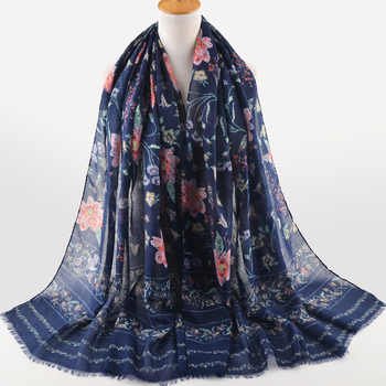 High quality women fashion 2018,Muslim hijab,shawls wraps,british style,cape,cotton silk scarf,cotton flower scarf,floral hijab - DISCOUNT ITEM  7% OFF All Category