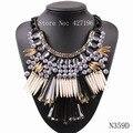 2017 novo design de moda colorida resina pingente choker jóias pico pedra negra cadeia big chunky colares atacado para as mulheres