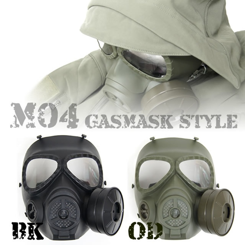 M04 Toxic Skull Tactical Full Face Gas Mask With Fan CS Wargame Hunting Military Paintball Airsoft Protection Gear