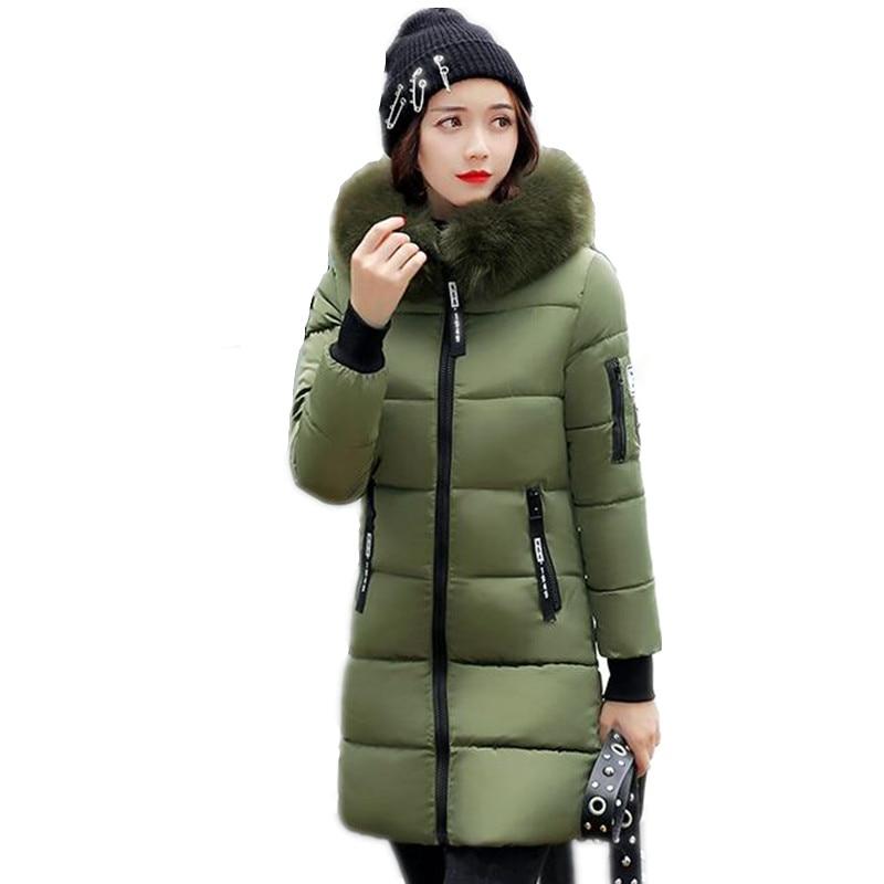 New Women's Parkas Winter Jacket Women Long Thicken Down Jackets Wadded Jacket Padded Fake Fur Hooded Coat Parkas Warm Outwear цены онлайн