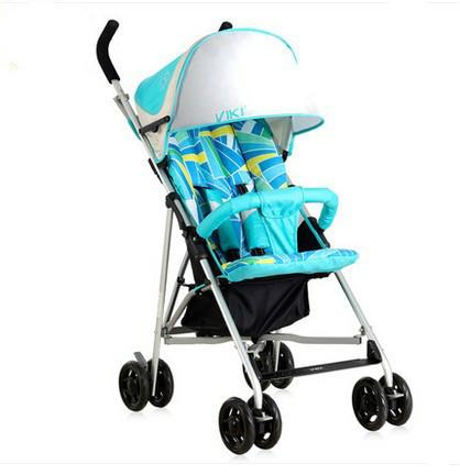 Luz carrinho de criança dobrável soltas de suspensão de quatro rodas de carro do bebê guarda-chuva ultraleve
