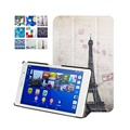 Custer Leather Cover Stand Case for Sony Xperia Z3 Tablet Compact 8 inch With Magnet + Screen Protector + Stylus Pen Gift