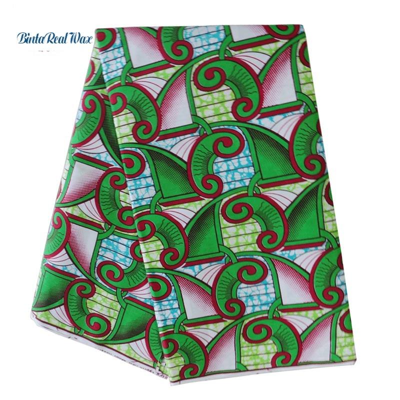 2019 High Quality binta real Wax 100 Cotton dutch Fabric Wax African Fabric Batik Fabrics for