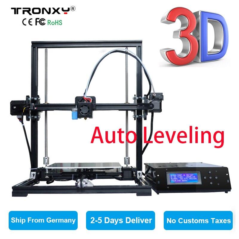 TRONXY X3A Auto leveling Upgrad Quality High Precision Acrylic 3D Printer DIY Stable Extruder LCD Display SD Card Free Shipping tronxy acrylic p802 mts 3d printer