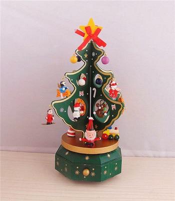 Spieluhr Weihnachten.Us 816 99 5 Off Weihnachten Spieluhr Weihnachten Ornament Weihnachtsgeschenke Spieluhr Dreht Holz Ornamente In Weihnachten Spieluhr Weihnachten