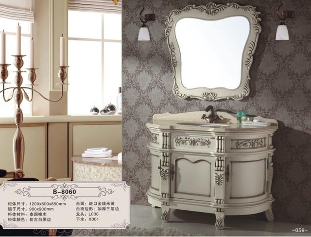 Badkamer Meubel Antiek : Europese stijl antieke ontwerp gesneden houten badkamermeubel