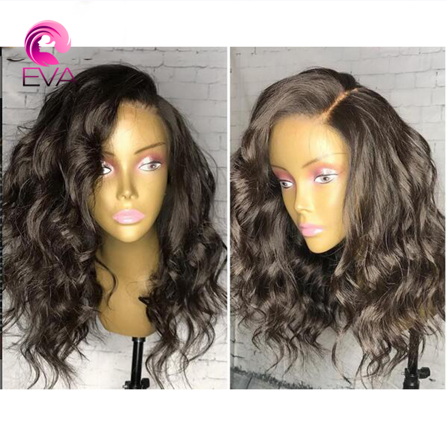 Eva Hair 180% Density 360 lace frontal Body Wave Wigs With Baby Hair Brazilian Frontal Lace Short Bob Wigs Remy Hair 10''-24''