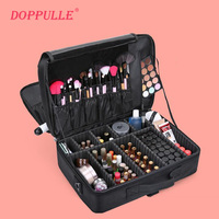 Women High Quality Professional Makeup Organizer Bolso Mujer Cosmetic Case Large Capacity Storage Bag Free Disassembly