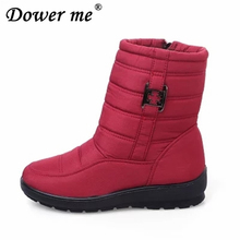 2018 waterproof casual women shoes snow boot women winter boots plus fur keep warm non slip women boots big Size 35-42 Rainboots