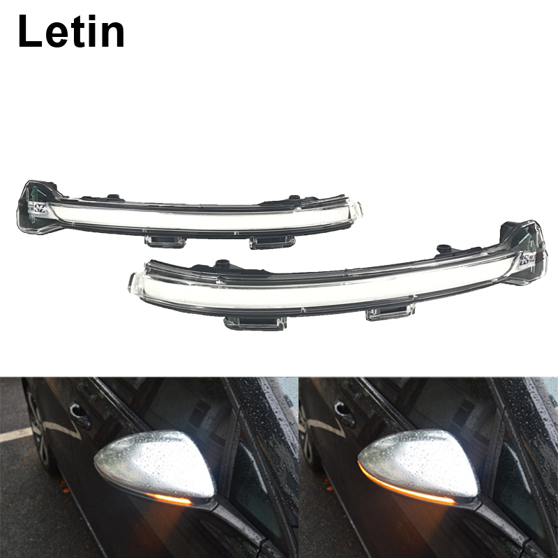 Letin Side Mirror indicator Sequential Flow Dynamic LED Turn Signal Light For VW Golf 7 MK7