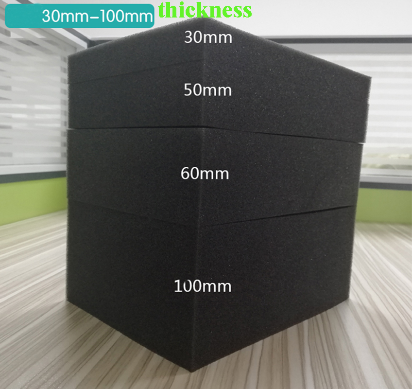 3pcs Pre-cut Foam 502*279*50mm + 1pc Solid Foam 502*279*10mm + 1pc Egg Foam 502*279*30mm For 1510 Tool Case