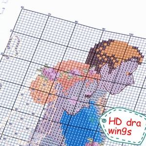 Image 4 - Conjunto de kits de punto de cruz con cuentas de calidad sin imprimir de 14CT con bordado, pintura al óleo para mujer y caballo, decoración para pared, hecha a mano para el hogar