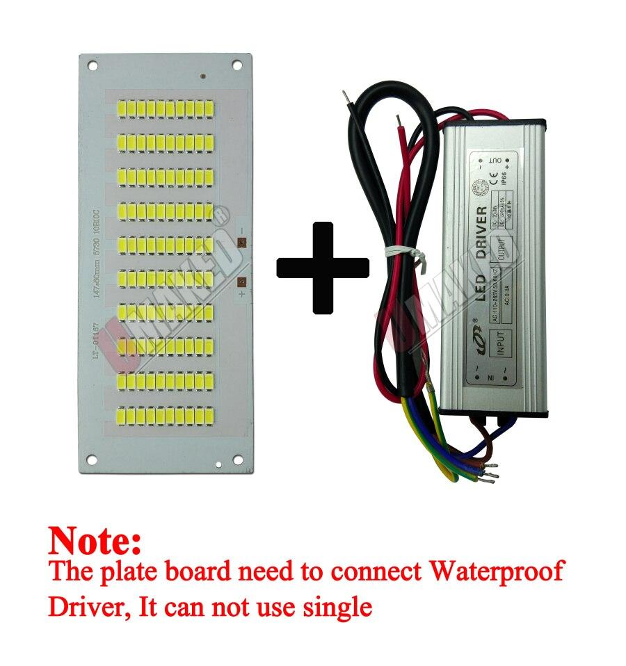 100% Full Power LED Holofote 200 W PCB SMD5730, 298x110mm led placa PCB, branco morno/branco iluminação sourcefor levou holofote - 5