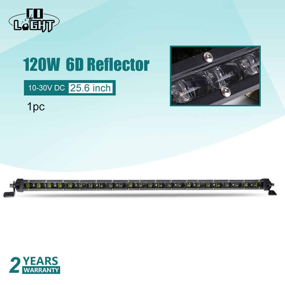 CO LIGHT Auto Light 120W Work Light Off Road Led 12 Volt 25 6 Inch 24V