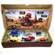 Brinquedo de dinossauro, mini carro de brinquedo removível para presente de crianças, modelos de dinossauro
