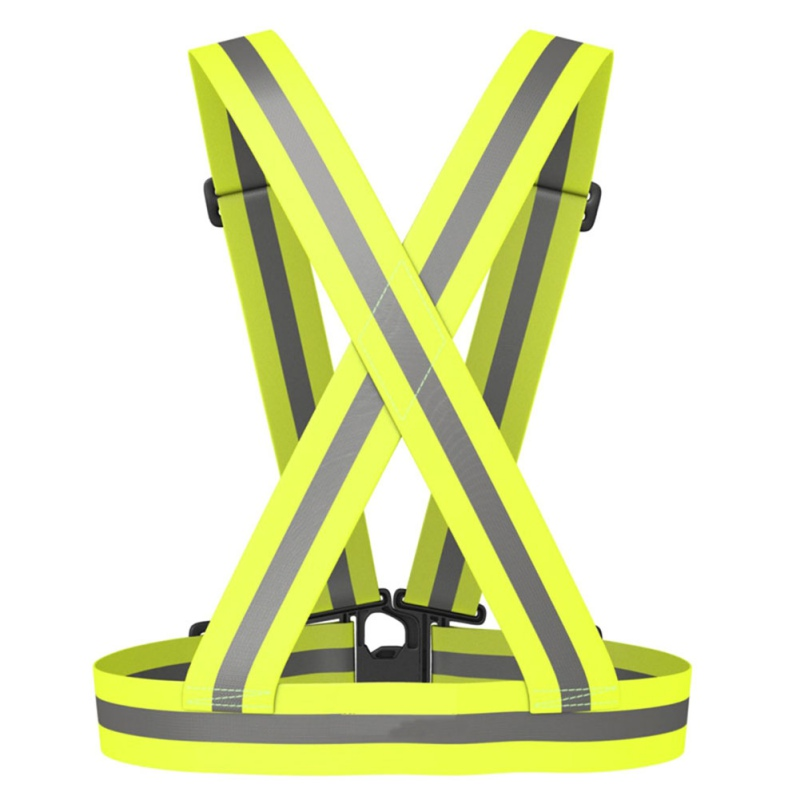 Autumn Outdoor Running Night Sports Cycling Reflective Back Straps Vest Emergence Safety ...
