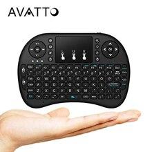 [AVATTO] низкая цена иврит, русский, английский 2,4G Беспроводная i8 Мини клавиатура с игровой сенсорный планшет для смарт-ТВ на андроид коробка ноутбук ПК