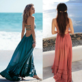 Summer dress mujeres de bohemia mangas gente sexy vestidos hippie de boho dress partido de blackless vendaje beach dress vestidos