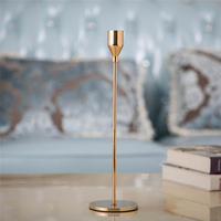 Simple Golden Metal Candle Holders Wedding Decoration wedding centerpieces for tables candle stand modern candlestick 30Z018
