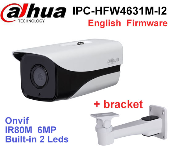 Dahua 6MP POE IP Camera IPC-HFW4631M-I2 IP67 IR 80M H.265 WDR ONVIF Infrated CMOS Night Vision Outdoor Bullet CCTV camera цена