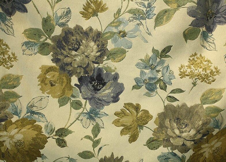 Cor da água flores de luxo design do artista gancho pendurar estilo cortinas da sala estar restaurante bege verde palácio hotel cortina - 4