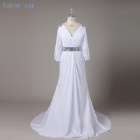 New Arrival Vestido De Noiva Half Sleeve Beach Wedding Gowns With Sequined Greek Style Grecian Wedding