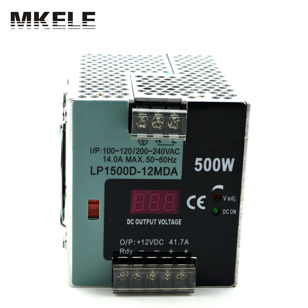 high watts 500w din rail small size with digital monitor Switching voltage switcing power supply LP-500-12 37.5a 12vdc