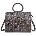 Новый ручной кожаная сумка ретро тиснением цвет кисти старый head слой коровьей плеча сумки оптовой продажи фабрики