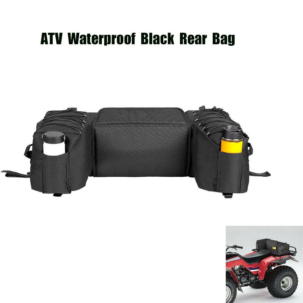 Black Rear Rack Bag Package Support Storage Pack Back ATV For Yamaha Big Bear 400 for