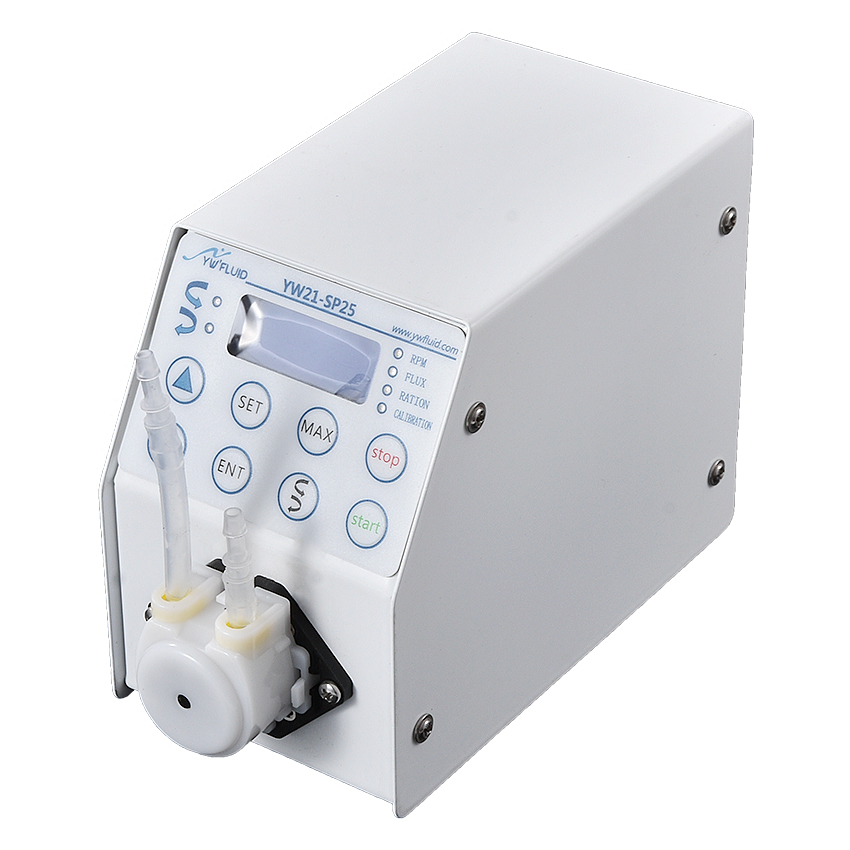YW21 haute précision réglable micro contrôle numérique pompe péristaltique eau dosage et pompe de distribution intelligente numérique
