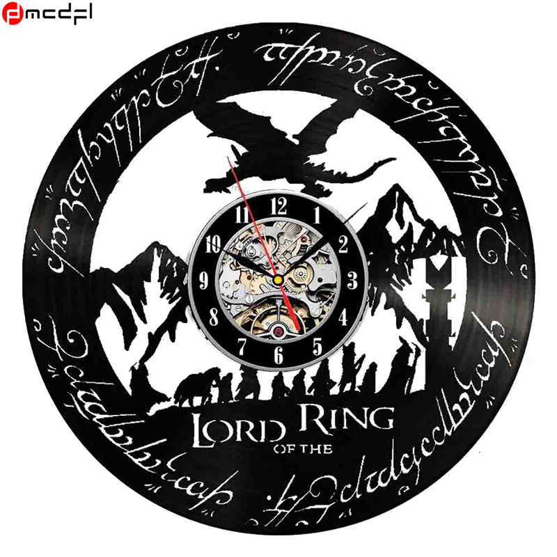 Hot Lord Of The Rings Theme 12 Inch Handmade Vinyl 3d Wall Clock